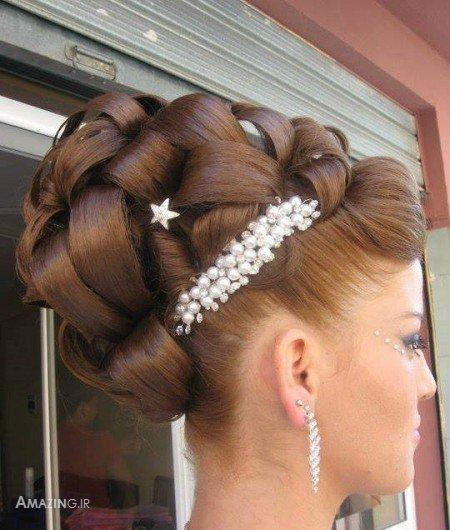 مدل مو و بافت مو شینیون مو زنانه دخترانه عروس